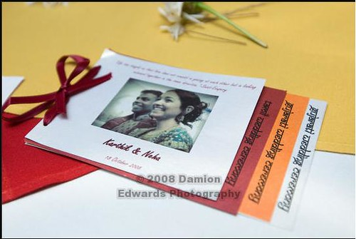 wedding program Described Hindu wedding rituals so that the guests can