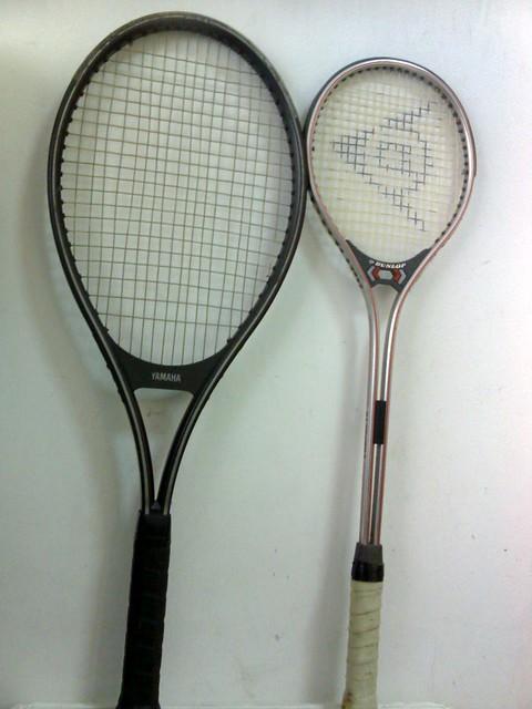 Yamaha Graphite Professional Tennis Racquet and dunlop Squash Racquet