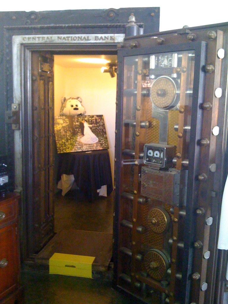 Old Bank Safe, Now Dressing Room