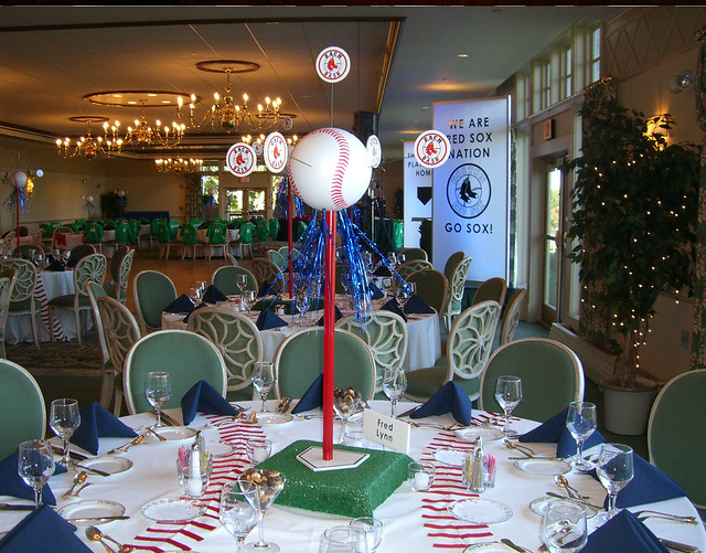 Red sox theme centerpiece flickr photo sharing