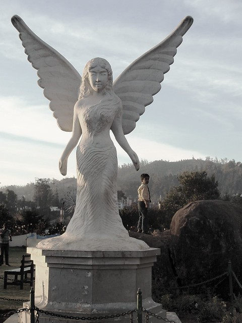 Angel Statue In Ooty Rose Garden Flickr Photo Sharing