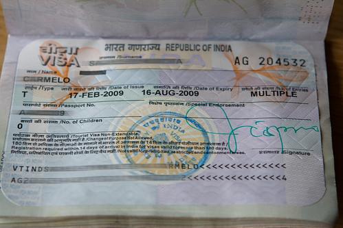 Visado de India