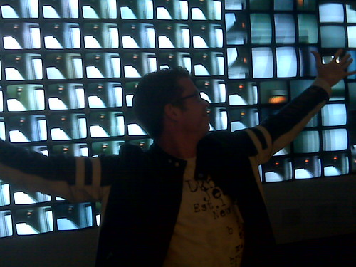 Chris Melissinos rocking to Nam June Paik