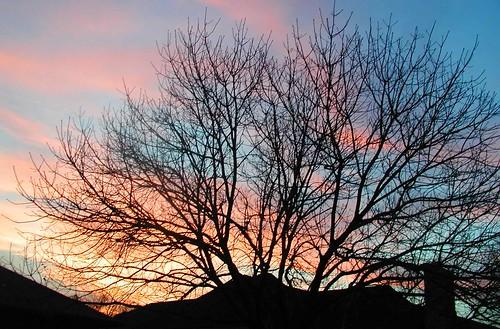 sunset sky clouds texas