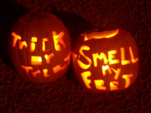 Trick or treat, smell my feet