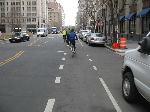 Congressional Bike Ride 2009, Bike Lanes on E Street