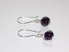 Amethyst wrap drop earrings