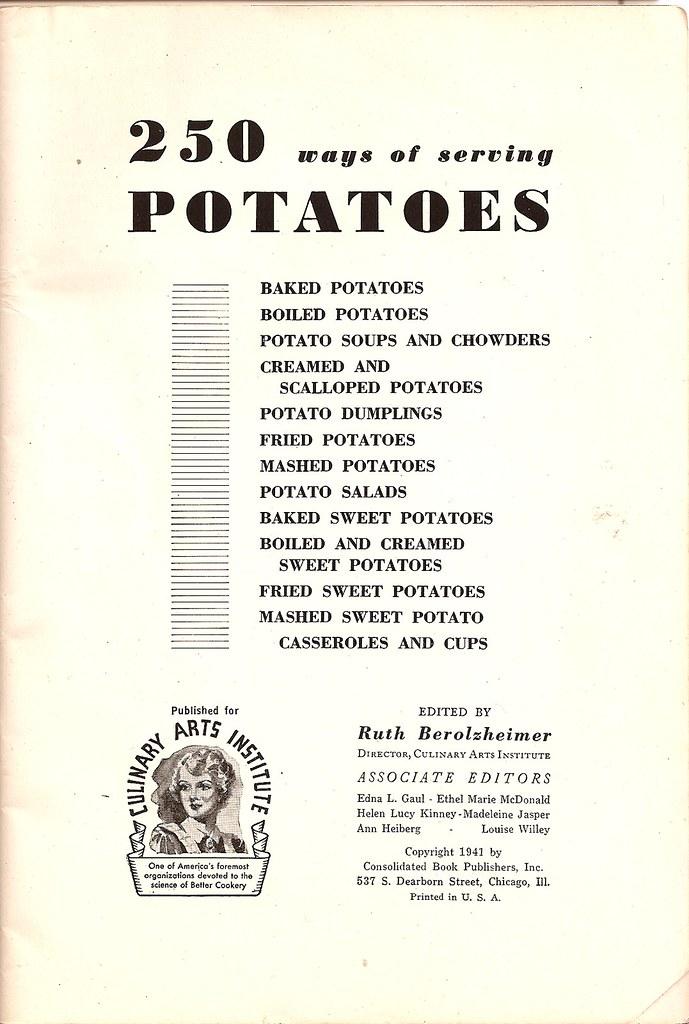250 Ways of Serving Potatoes