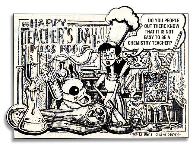 An old Teacher's Day postcard (1995)