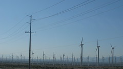 electrical supply, overhead power line, line, wind, wind farm, electricity, sky,
