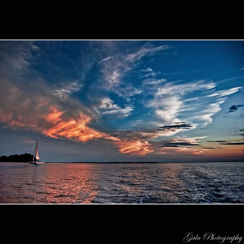 ocean sunset sea water clouds sailboat work island nikon sailing south horizon southcarolina southern flyingcircus catamaran sound inlet tidal cirrus lowcountry hiltonheadisland stearn beaufortcounty d80 jobilove calibouge