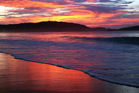 sunset sea beach sanya hainan