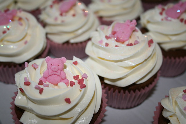 baby shower cupcakes girl flickr photo sharing