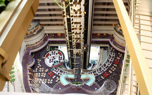 Atrium of Meritus Marina Mandarin Hotel, Singapore