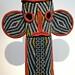 Elephant mask and Ndop cloth, Cameroon grasslands