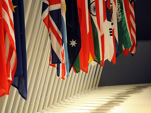 G20 flags