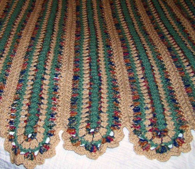Bev's Mile-a minute afghan! (Or mile and HOUR!)