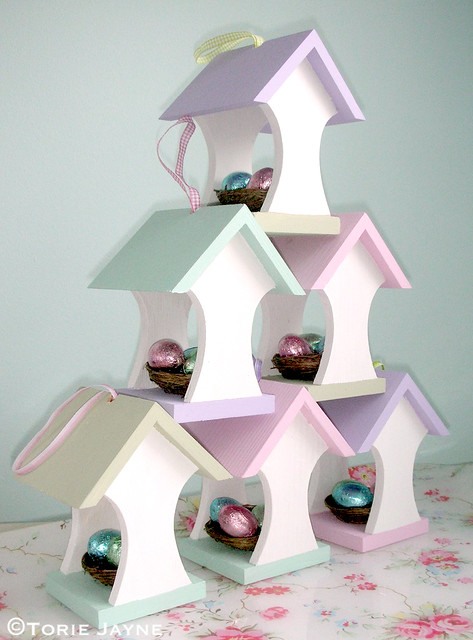 Easter bird house stack!