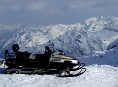 auto racing, alps, racing, winter sport, mountain, winter, vehicle, piste, sports, snow, mountain range, snowmobile, land vehicle,