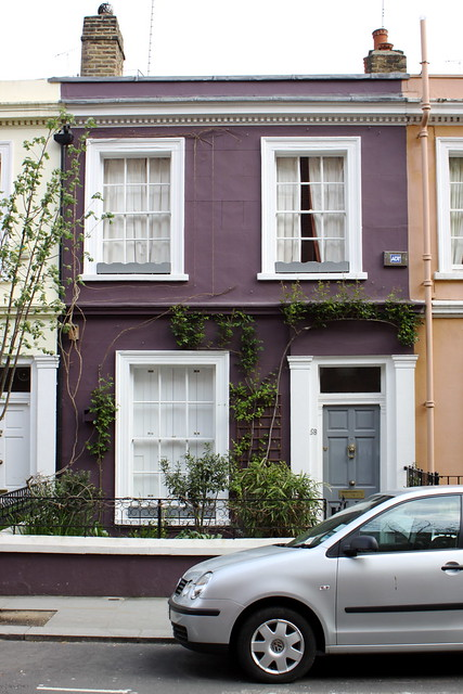 Purple house portobello road london flickr photo sharing - Purple exterior paint image ...