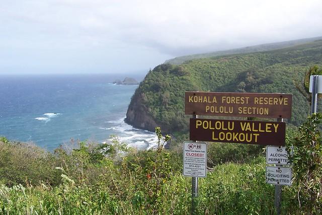 Pololu Valley Lookout Hawaii Big Island