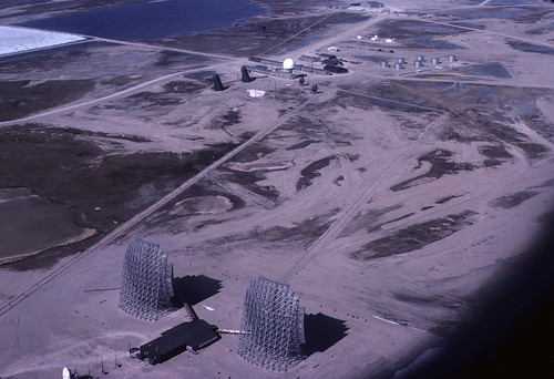 Areal view of Fox-Main Dew line station, Hall Beach, Nunavut