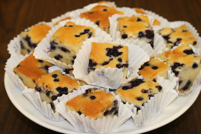 Food Librarian - Blueberry Mochi Cake