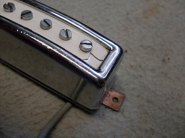 Photo:Cracked Pickup Cover Close By Roadside Guitars