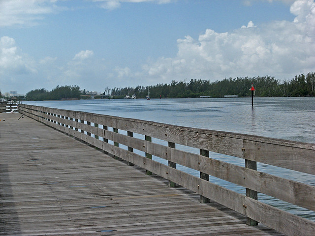 Fishing pier north beach park hollywood florida for Fishing piers in florida