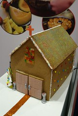 gingerbread house, baking, gingerbread, food,