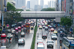 After the rain in Bangkok, Thailand