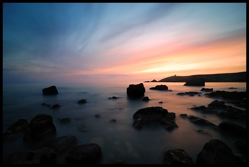 sunset sea mer sunrise french landscape nikon brittany rocks long exposure time tokina ciel paysage rochers quiberon 1116 d40 pointedupercho