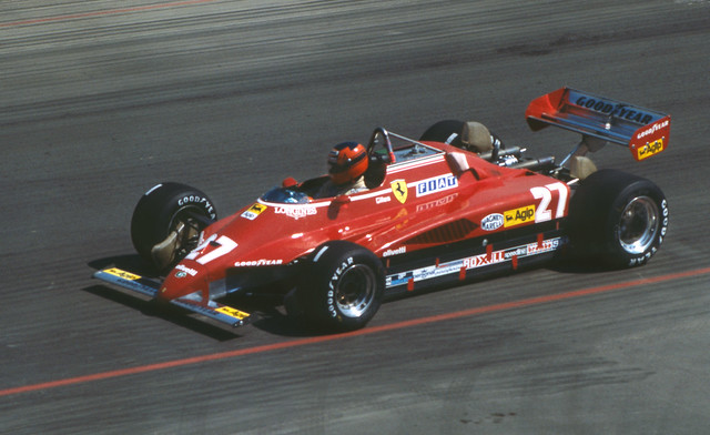Gilles Villeneuve Qualifying the Ferrari in the Long Beach GP 1982