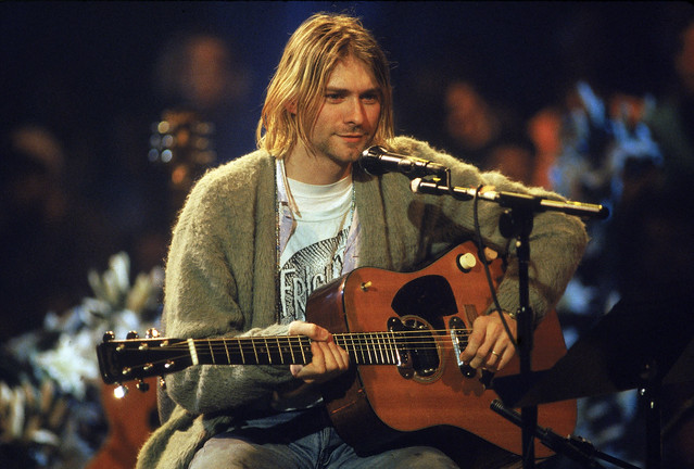 Kurt Cobain, MTV unplugged, 1994, by Frank Mecelotta