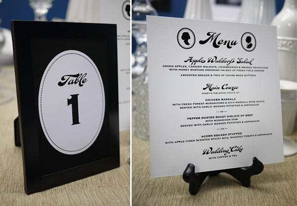 Table Number Menu As you look at all the other wedding decor items