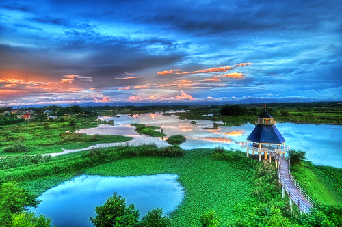 blue sky reflection green water colors landscape bulacan cgb hdr photomatix