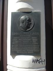 Photo of Edgar Wallace bronze plaque