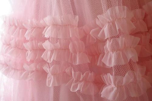 Pink Prom Dress Ruffles