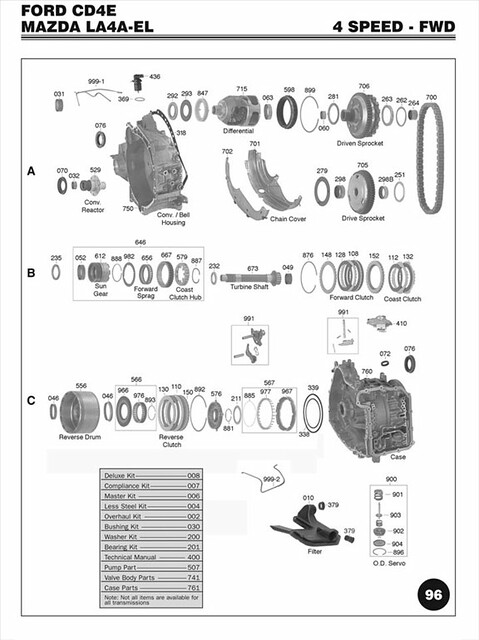ford cd4e transmission diagram