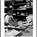 Florence Grueser in Technical Services, Ohio University's Alden Library, 1994