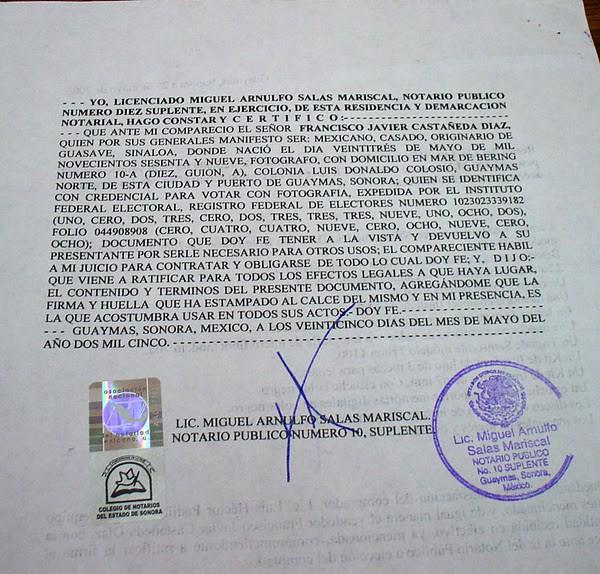 efecto acta notarial: