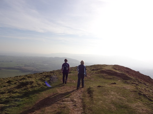 Hazel and Catherine, Skirrid (Ysgyryd Fawr) walk