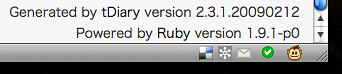 tDiary on ruby 1.9.1-p0
