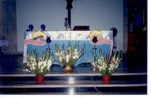 Altar Decoration With Sarees First Holy