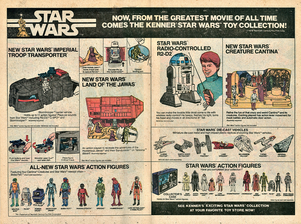 "Kenner :: ""STAR WARS .. NOW FROM THE GREATEST MOVIE OF ALL TIME .. - "" (( 1979 ))"