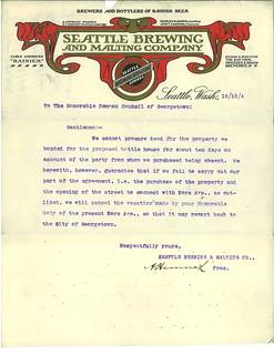Brewery letterhead, 1904