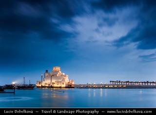 Qatar - Doha - Museum of Islamic Arts at Blue hour - Twilight - Dusk - Night