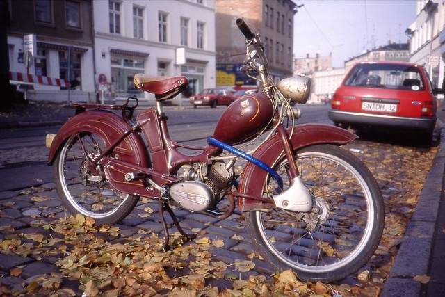 Simson DDR SR-1 moped.  Schwerin , Oct 1994