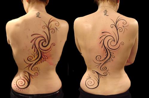 Tribal pattern tattoo