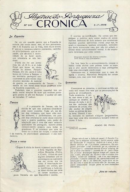 Ilustração Portugueza, No. 541, July 3 1916 - 2